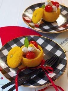 柚子のカプレーゼ