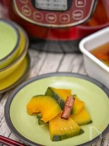 【適糖生活】かぼちゃのシナモン風味煮浸し