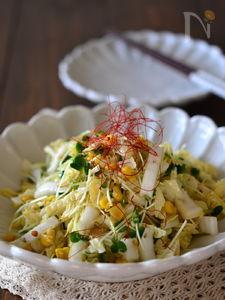 カリカリしらすのうま塩白菜サラダ