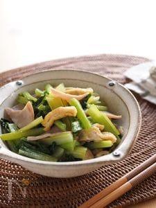 小松菜と油揚げの中華炒め 朝食・作り置き