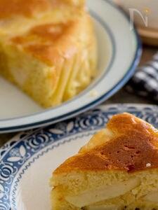 炊飯器でりんごのヨーグルトケーキ