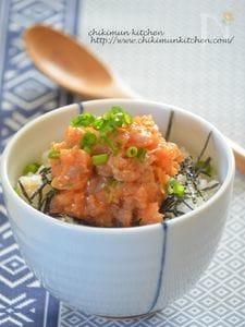 韓国風ネギトロ丼