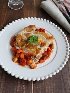 チキンのピリ辛まめトマソース