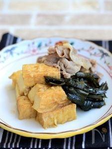 厚揚げ豆腐と昆布のうま煮【作りおき】