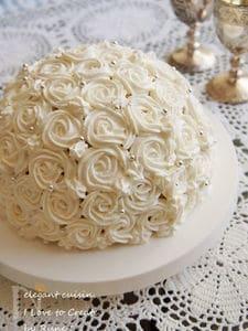 スプリングストロベリーローズケーキ