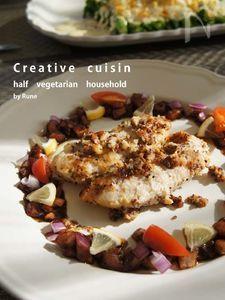 鶏ささみソテー&フレッシュ野菜ラ・カンティバルサミコソース