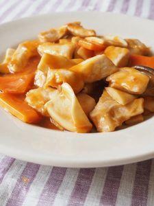 鶏胸肉の甘酢あん炒め