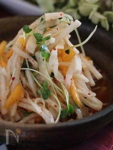 大根と柿の韓国風なます