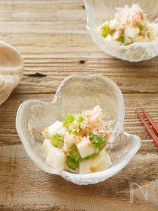長芋とオクラの簡単梅味噌和え