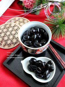 IHで作るおせちの黒豆