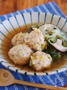 重ねて10分♪『鶏団子と白菜の具沢山はるさめスープ』