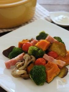 秋の味覚ホットサラダ