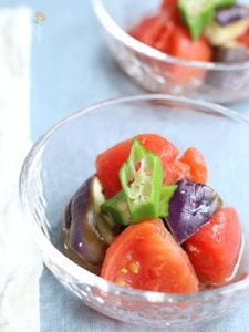 ナスとトマトの冷し鉢