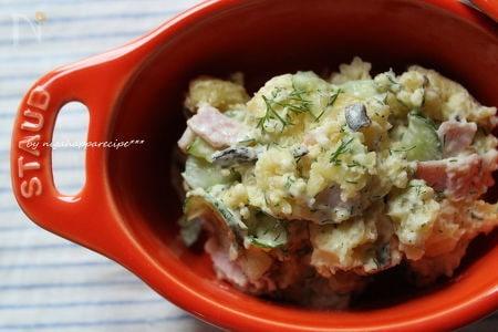 ディルマヨネーズのオリーブポテトサラダ