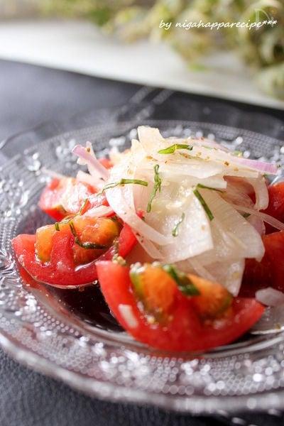トマトと大根のブルスケッタ風サラダ