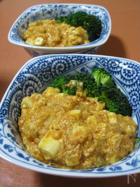 ご飯がすすむ ◆卵と豆腐のチリソース煮◆
