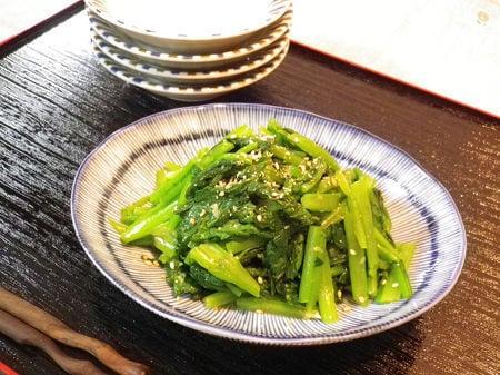 ◆カブの葉(又は小松菜)の生姜ナムル◆