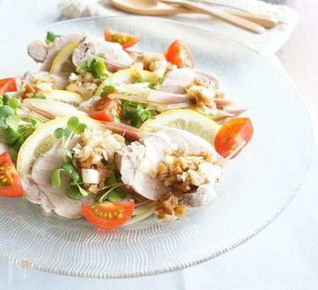 ゆで豚と香味野菜のサラダ