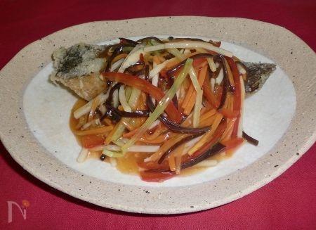 白身魚の彩り野菜あんかけ