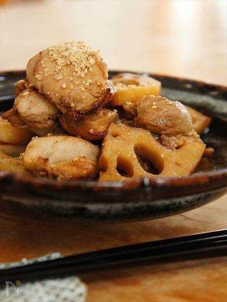 鶏肉と蓮根の香醋煮