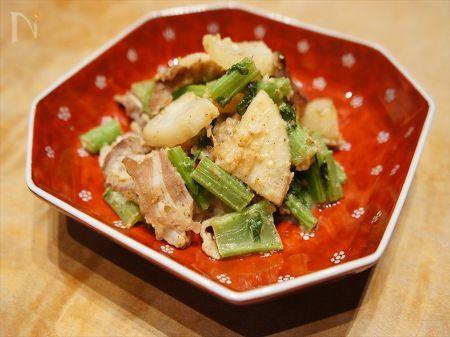豚肉と蕪の塩麹炒め