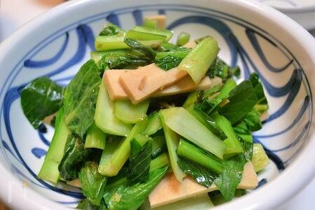 小松菜と高野豆腐の生姜炒め