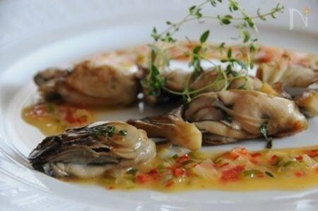牡蠣と舞茸のブロシェット