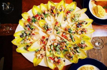 チコリのボートサラダ
