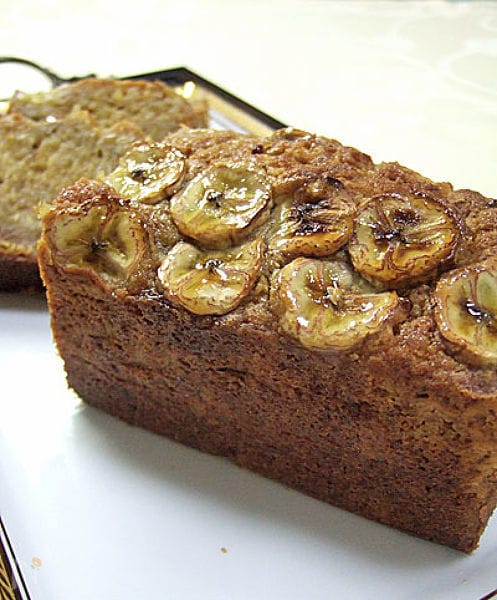 メイプルとキャラメルバナナのパウンドケーキ