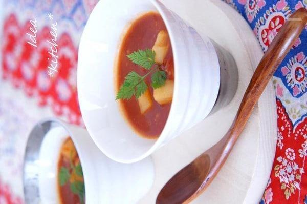 トマトと生姜のあったかスープ