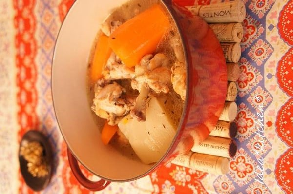 根菜のビストロ風ポトフ
