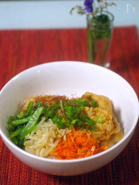 韓国風いろどり焼肉丼