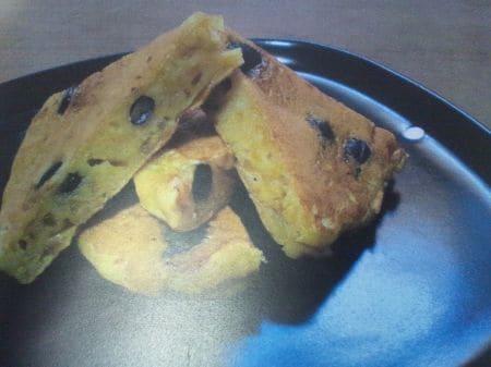 黒豆と玉ねぎのパンケーキ