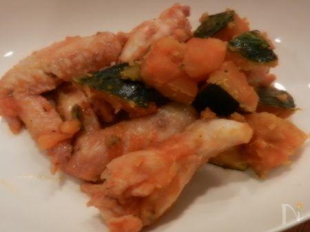 鶏手羽とかぼちゃの煮物