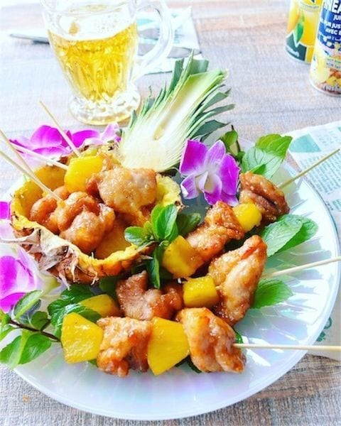 パイナップル甘酢鶏串☆★