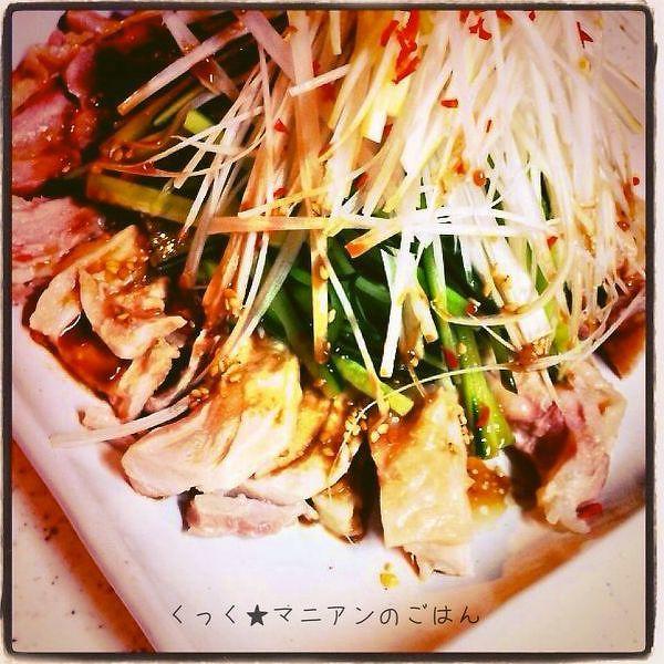 野菜たっぷり★鶏もも肉の棒棒鶏風