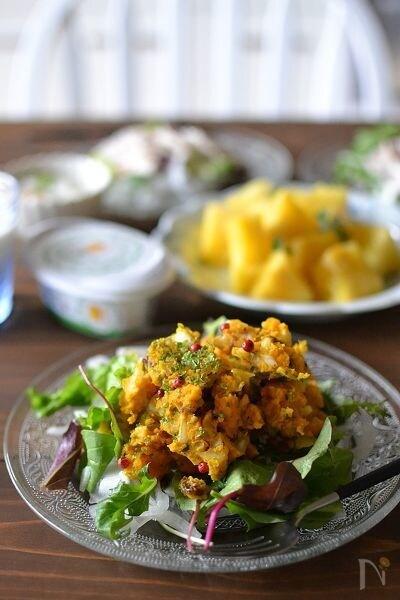 かぼちゃとチーズのデリ風サラダ【作りおき 】
