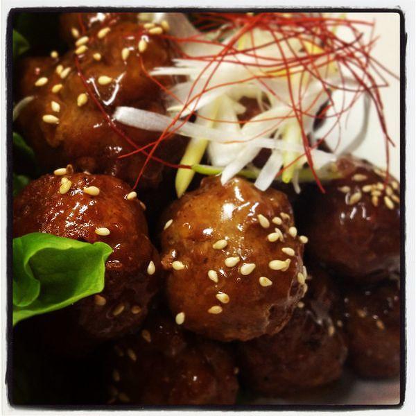 中華風 黒酢肉団子