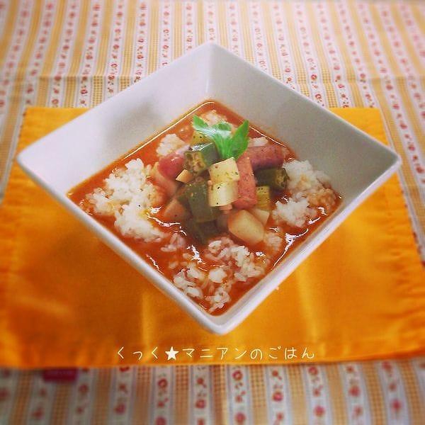 根菜入りガンボスープ