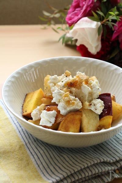 メープルチーズのりんごとさつまいものフリット