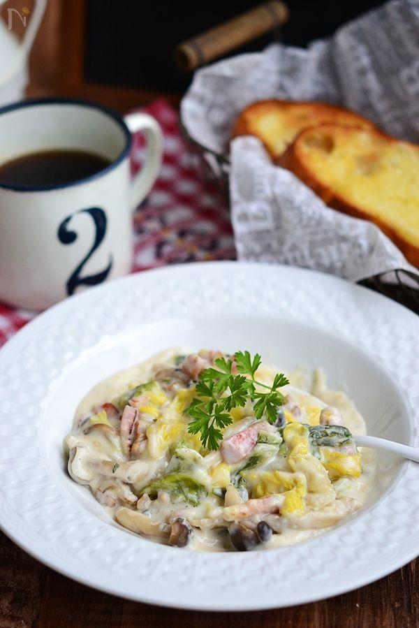 白菜とベーコンのクリーム煮【作りおき】