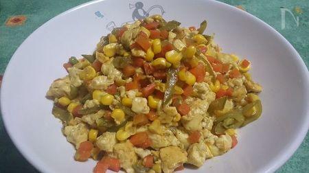コーンたっぷり 煎り豆腐 カレー風味