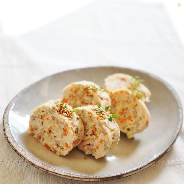 フライパンで★鶏挽肉と野菜の包み焼き
