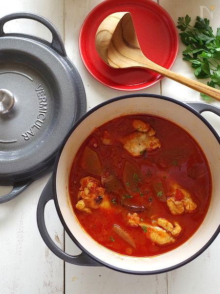 冬瓜と鶏肉のチリトマトスープ
