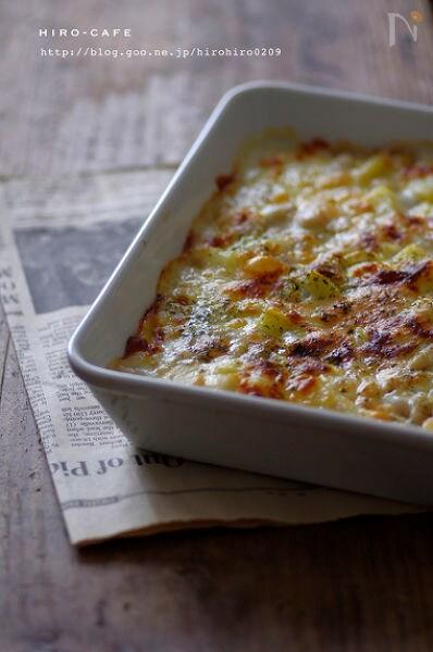 じゃが芋と豆のとろとろチーズグラタン☆