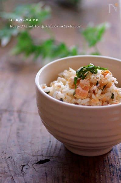簡単!鮭と大葉の混ぜご飯☆