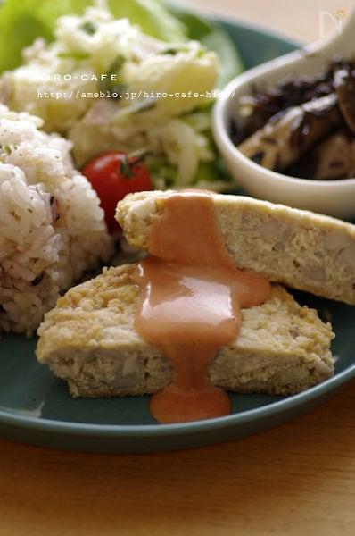 れんこんと白い豆腐ハンバーグ