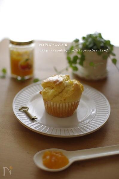 バター無あんずとクリームチーズのマフィン☆