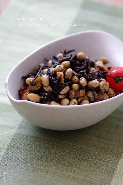 大豆とひじきの簡単旨煮☆