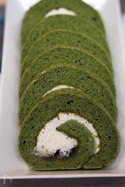 抹茶小豆ロール